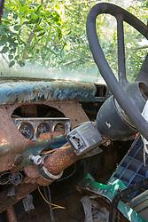 detail af an abandoned truck
