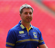 Steve Price (Coach) of Warrington Wolves during the Warrington Wolves Captains Run ahead of the Ladbrokes Challenge Cup Final at Wembley Stadium, London<br /> Picture by Stephen Gaunt/Focus Images Ltd +447904 833202<br /> 24/08/2018