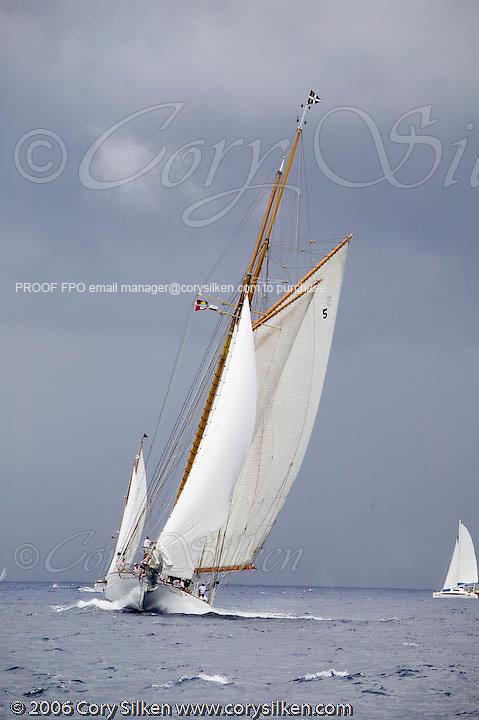 Eleonora at the Antigua Classic Yacht Regatta