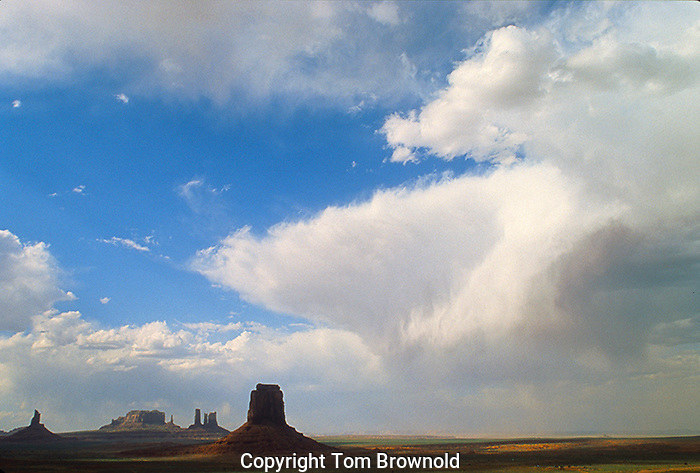monsoon clouds over Monument Valley