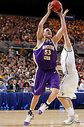 ST. LOUIS, MO - MARCH 26: Jordan Eglseder #53 of the Northern Iowa Panthers looks to get to the basket against the Michigan State Spartans during the Midwest regional semi-final of the NCAA men's basketball tournament at the Edward Jones Dome on March 26, 2010 in St. Louis, Missouri. Michigan State advanced with a 59-52 win. (Photo by Joe Robbins)