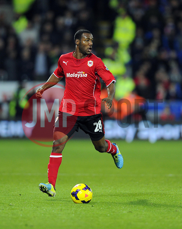 Cardiff City Midfielder, Kevin Theophile Catherine (FRA) - Photo mandatory by-line: Joseph Meredith/JMP - Tel: Mobile: 07966 386802 - 24/11/2013 - SPORT - FOOTBALL - Cardiff City Stadium - Cardiff City v Manchester United - Barclays Premier League.