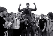 Jimmy Pursey and fans  - Sham 69