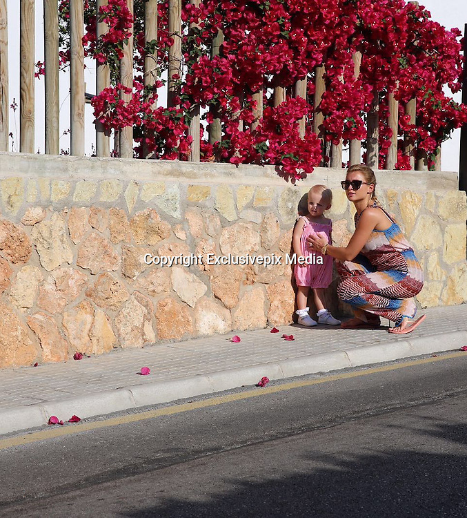 Exclusive<br /> Billie Faiers on holiday pictured with her daughter Nelly<br /> &copy;Exclusivepix Media