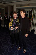 Lou Reed and Laurie Anderson. 50th Ivor Novello Awards, Grosvenor House. London. 26 may 2005. ONE TIME USE ONLY - DO NOT ARCHIVE  © Copyright Photograph by Dafydd Jones 66 Stockwell Park Rd. London SW9 0DA Tel 020 7733 0108 www.dafjones.com