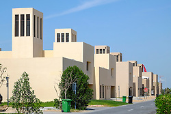 New villas in residential estate built for local Emirati families on Yas Island in Abu Dhabi United Arab Emirates