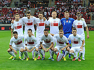 Team picture of Polish team during the FIFA World Cup 2014 group H qualifying football match of Poland vs Montenegro on September 6, 2013 in Warsaw, <br />