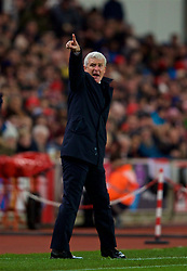 STOKE-ON-TRENT, ENGLAND - Wednesday, November 29, 2017: Stoke City's manager Mark Hughes during the FA Premier League match between Stoke City and Liverpool at the Bet365 Stadium. (Pic by David Rawcliffe/Propaganda)
