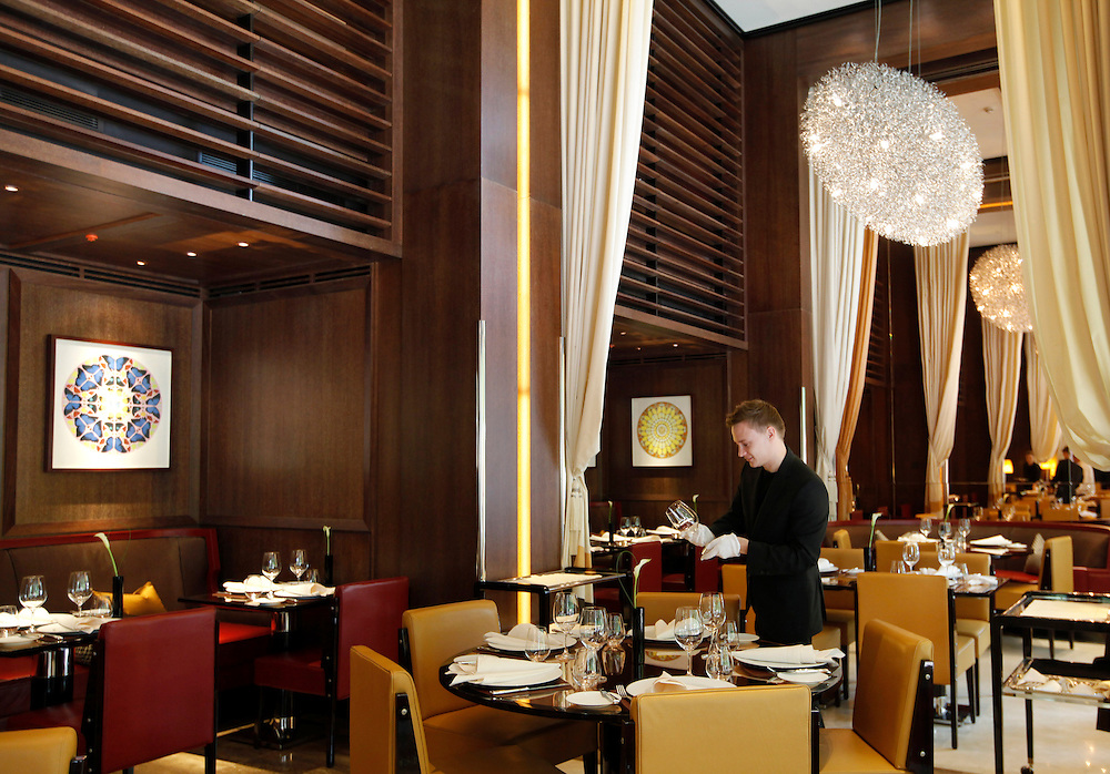 Wolfgang Puck's new restaurant, The Cut at 45 Park Lane.