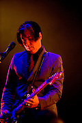 WA - MAY 25: Troy Van Leeuwen of Queens of the Stones Age performs live onstage at the Gorge Amphitheater on May 25, 2014 in George, Washington. (Photo by Steven Dewall)