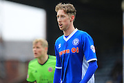 Joe Bunney during the Sky Bet League 1 match between Rochdale and Sheffield Utd at Spotland, Rochdale, England on 27 February 2016. Photo by Daniel Youngs.