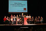 Mannheim. 19.09.17 | SPD-Kanzlerkandidat Martin Schulz im Capitol Mannheim.<br /> Im Wahlkampf zur Bundestagswahl unterstützt Kanzlerkandidat Martin Schulz Mannheims SPD Bundestagsabgeordneter Stefan Rebmann.<br /> <br /> <br /> BILD- ID 2382 |<br /> Bild: Markus Prosswitz 19SEP17 / masterpress (Bild ist honorarpflichtig - No Model Release!)