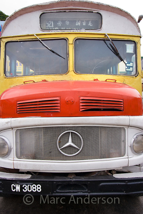 A colourful old Mercedes Benz bus in Malaysia..