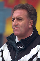 COVENTRY, ENGLAND - Saturday, April 6, 1996: Liverpool's coach Doug Livermore on the bench against Coventry City during the Premiership match at Highfield Road. Coventry won 1-0. (Pic by David Rawcliffe/Propaganda)