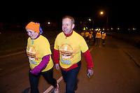 Ciaran Cannon TD  and his wife Niamh  at the Kinvara Darkness into Light walk in aid of Pieta House.<br />  Photo:Andrew Downes, xposure.