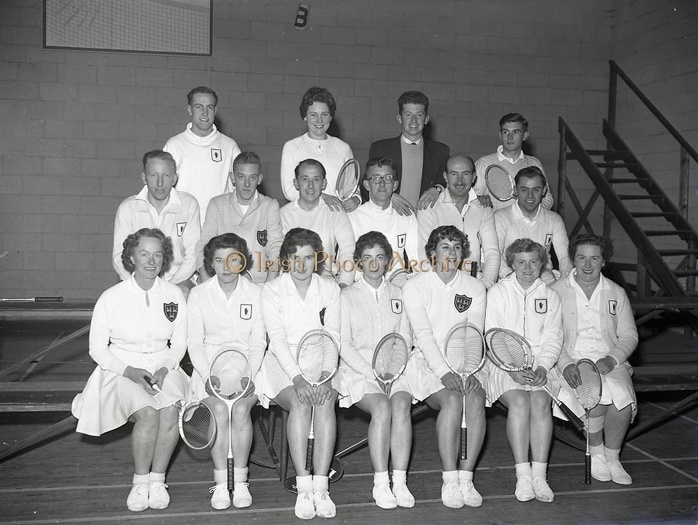 Badminton Leinster V Ulster at Terenure Dublin 11-12-1958