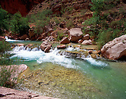 Havasu Creek, Colorado River mile 156.5, Grand Canyon National Park, Havasupai Indian Reservation, Arizona, USA; 9 May 2008; Pentax 67II, 45mm lens, polarizer, Velvia 100