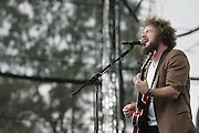 Manchester, TN, June 13, 2005;  Jim James of My Morning Jacket performs during The Bonnaroo 2005 Arts and Music Festival. Mandatory Credit: Photo by Bryan Rinnert