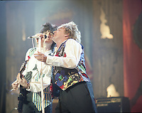 Ronnie Wood and Rod Stewart, The BRIT Awards 1993 <br /> Tuesday 16 Feb 1993.<br /> Alexandra Palace, London, England<br /> Photo: John Marshall - JM Enternational