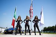 August 2-4 2019: Lamborghini Super Trofeo Road America. Lamborghini grid girls