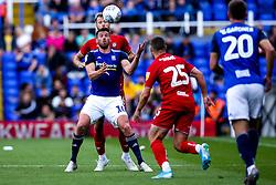 Lukas Jutkiewicz of Birmingham City takes on Nathan Baker of Bristol City - Mandatory by-line: Robbie Stephenson/JMP - 10/08/2019 - FOOTBALL - St Andrew's Stadium - Birmingham, England - Birmingham City v Bristol City - Sky Bet Championship