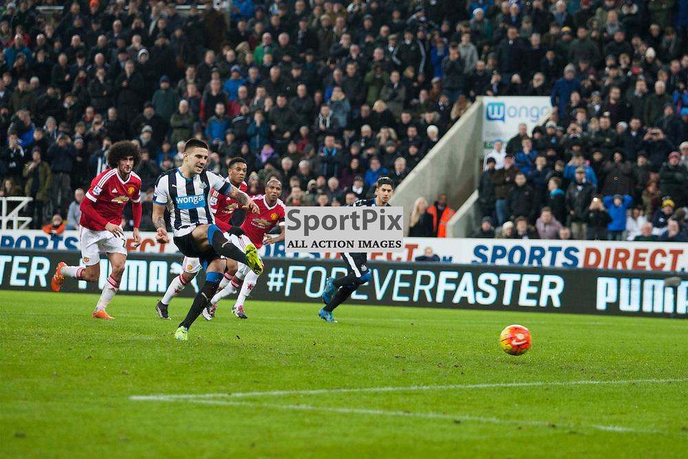 Newcastle v Manchester Utd 12 January 2016<br />Aleksandr Mitrovic<br />(c) Russell G Sneddon / SportPix.org.uk