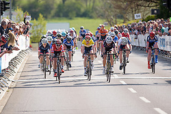 Photo finish between Delzenne and Bujak whilst Majerus' third place is enough to secure the general classification on Stage 2 of Festival Elsy Jacobs 2017. A 111.1 km road race on April 30th 2017, starting and finishing in Garnich, Luxembourg. (Photo by Sean Robinson/Velofocus)