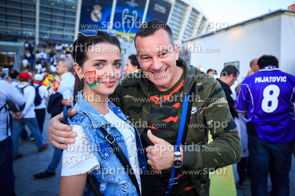 Supporters of Liverpool prior to the UEFA Champions League final football match between Liverpool and Real Madrid at the Olympic Stadium in Kiev, Ukraine on May 26, 2018.Photo by Sandi Fiser / Sportida