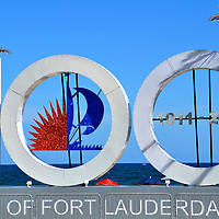 Centennial Sign for City of Fort Lauderdale, Florida <br /> The land now known as Fort Lauderdale was first inhabited by the Tequesta Indians more than a thousand years ago. Most of them died during the Spanish conquest in the 16th century. Although the British began ruling in 1763 until the end of the Revolutionary War, this area was sparsely populated until the first U.S. Fort Lauderdale was built in 1838.  It wasn&rsquo;t until 1911 that the City of Fort Lauderdale was incorporated. 100 years later, this sign along Fort Lauderdale Beach Blvd. was part of the centennial celebration.  Broward County&rsquo;s 100th birthday is in 2015.