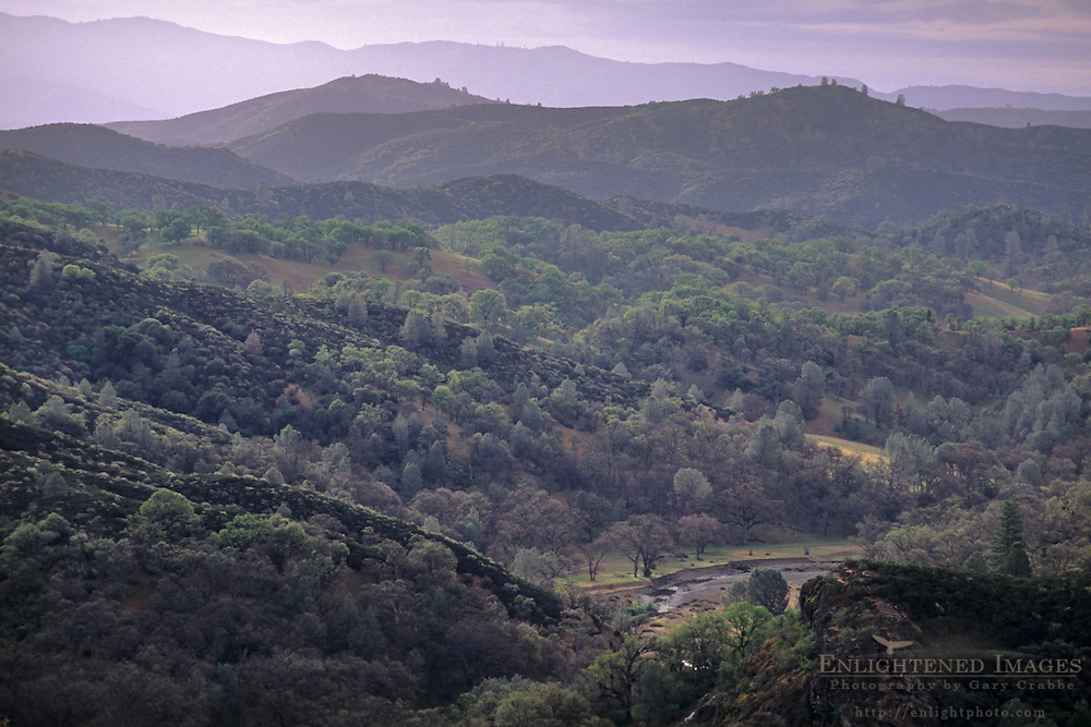 Overlooking the rugged hills of the Diablo Range, near the summit of Mount Hamilton,Santa Clara County, California