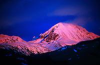 Peaks near Whistler Blackcomb ski resort, Whistler, British Columbia, Canada