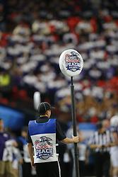 Dec 31, 2014; Atlanta , GA, USA; during the first quarter in the 2014 Peach Bowl at the Georgia Dome. Mandatory Credit: Paul Abell/CFA Peach Bowl via USA TODAY Sports