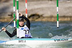 Ayano SATO of Japan during the Canoe Single (WC1) Womens Semi Final race of 2019 ICF Canoe Slalom World Cup 4, on June 30, 2019 in Tacen, Ljubljana, Slovenia. Photo by Sasa Pahic Szabo / Sportida