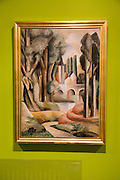 'Landscape' 1920 by Roger Bissiere ( 1886-1964, oil on canvas, Kode 4 art gallery Bergen, Norway - check copyright status for intended use