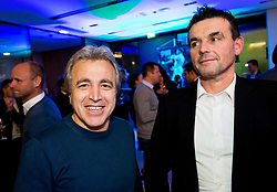 Kliton Bozgo and Darko Ceferin during Traditional New Year party of of the Slovenian Football Association - NZS, on December 18, 2017 in Kongresni center, Brdo pri Kranju, Slovenia. Photo by Vid Ponikvar / Sportida