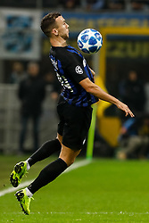 November 7, 2018 - Milan, Italy - Ivan Perisic of Inter Milan in action during the Group B match of the UEFA Champions League between FC Internazionale and FC Barcelona on November 6, 2018 at San Siro Stadium in Milan, Italy. (Credit Image: © Mike Kireev/NurPhoto via ZUMA Press)
