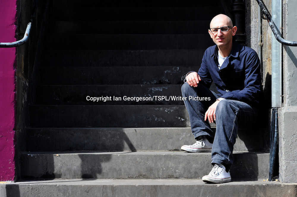 Luke Williams, Scottish author, photographed on Victoria Street in Edinburgh, May 4, 2011.