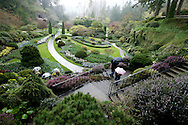 Victoria, B.C.Photo Randy Vanderveen.The Sunken Gardens at the world-famous Butchart Gardens just outside Victoria on British Columbia's Vancouver Island.