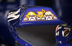May 23, 2018 - Barcelona, Spain - decoration on Valentino Rossi's motorbike(Yamaha) during the Moto GP test in the Barcelona Catalunya Circuit, on 23th May 2018 in Barcelona, Spain. (Credit Image: © Joan Valls/NurPhoto via ZUMA Press)