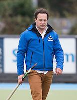 UTRECHT- Hockey -  coach Jan Jorn van 't Land van HGC  tijdens de hoofdklasse competitiewedstrijd tussen de mannen van Kampong en HGC (2-1). COPYRIGHT KOEN SUYK