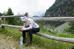 Ann-Sophie Duyck (BEL) after Giro Rosa 2018 - Stage 7, a 15 km individual time trial from Lanzada to Alpe Gera di Campo Moro, Italy on July 12, 2018. Photo by Sean Robinson/velofocus.com