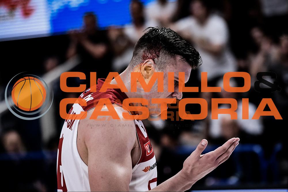 Tarczewski Kaleb<br /> Dolomiti Energia vs Trentino EA7 Olimpia Milano <br /> Lega Basket Serie A 2017/2018<br /> Finale<br /> Gara 3<br /> Trento, 09/06/2018<br /> Foto Ciamillo Castoria