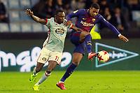 Celta de Vigo's Pione Sisto (l) and FC Barcelona's Nelson Semedo during Spanish Kings Cup match. January 4,2018. (ALTERPHOTOS/Acero)