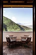 View from upstairs room balcony Bhutan Spirit Sanctuary