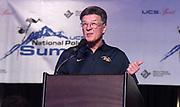 Jan 18, 2019; Sparks, NV, USA; Bob Seagren speaks at the UCS Spirit National Pole Vault Summit general assembly at the Nugget Casino Resort.