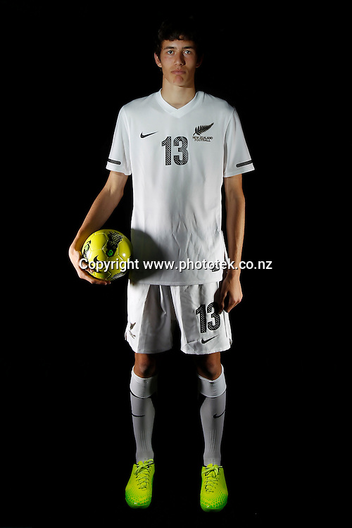 Elliot COLLIER. Futsal Photo Shoot, North Harbour Stadium, Albany, Wednesday 19th September 2012. Photo: Shane Wenzlick