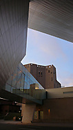 The Denver Art Museum's spectacular Frederic C. Hamilton Building in downtown Denver, Colorado.  The building is covered in titanium, angled panels and was designed by architect Daniel Libeskind, known for being a finalist in the World Trade Center master design contest and eventually winning the commission for one of the most high profile complexes in the world.