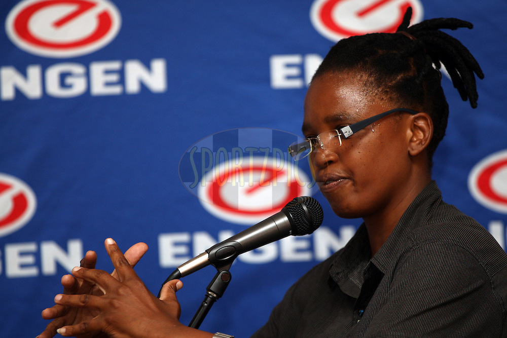 Delisile Mbatha during the Engen Coach The Coach Workshop held at the Engen Refinery Sport Complex in Durban, South Africa, on 9 and 10 October 2012. Photo by Jacques Rossouw/SPORTZPICS