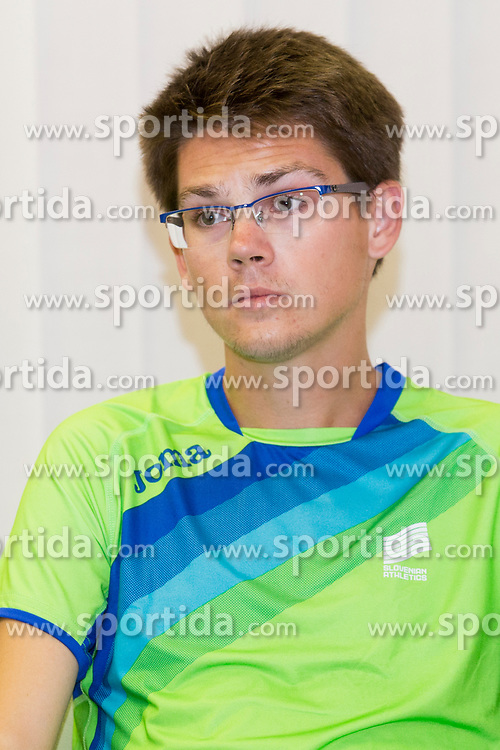 Rok Puhar at press conference of Athletic association Slovenia before IAAF World Championship London 2017 on August 2, 2017, Ljubljana, Slovenia. Photo by Urban Urbanc / Sportida