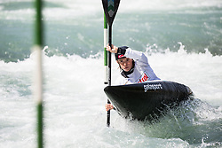 Eva Tercelj of Slovenia competes in Kayak (K1) Women during International Slalom Kayak-Canoe competition, on May 6, 2018 in Tacen, Ljubljana, Slovenia. Photo by Vid Ponikvar / Sportida